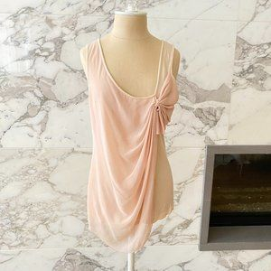 Anthropologie Blush Drapey Tank top by Deletta M